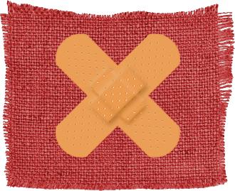 Strike Debt Logo - Dual bandaids