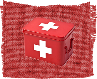 Strike Debt Logo - First Aid Kit in Metal Box