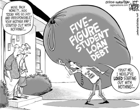 Five figure student debt